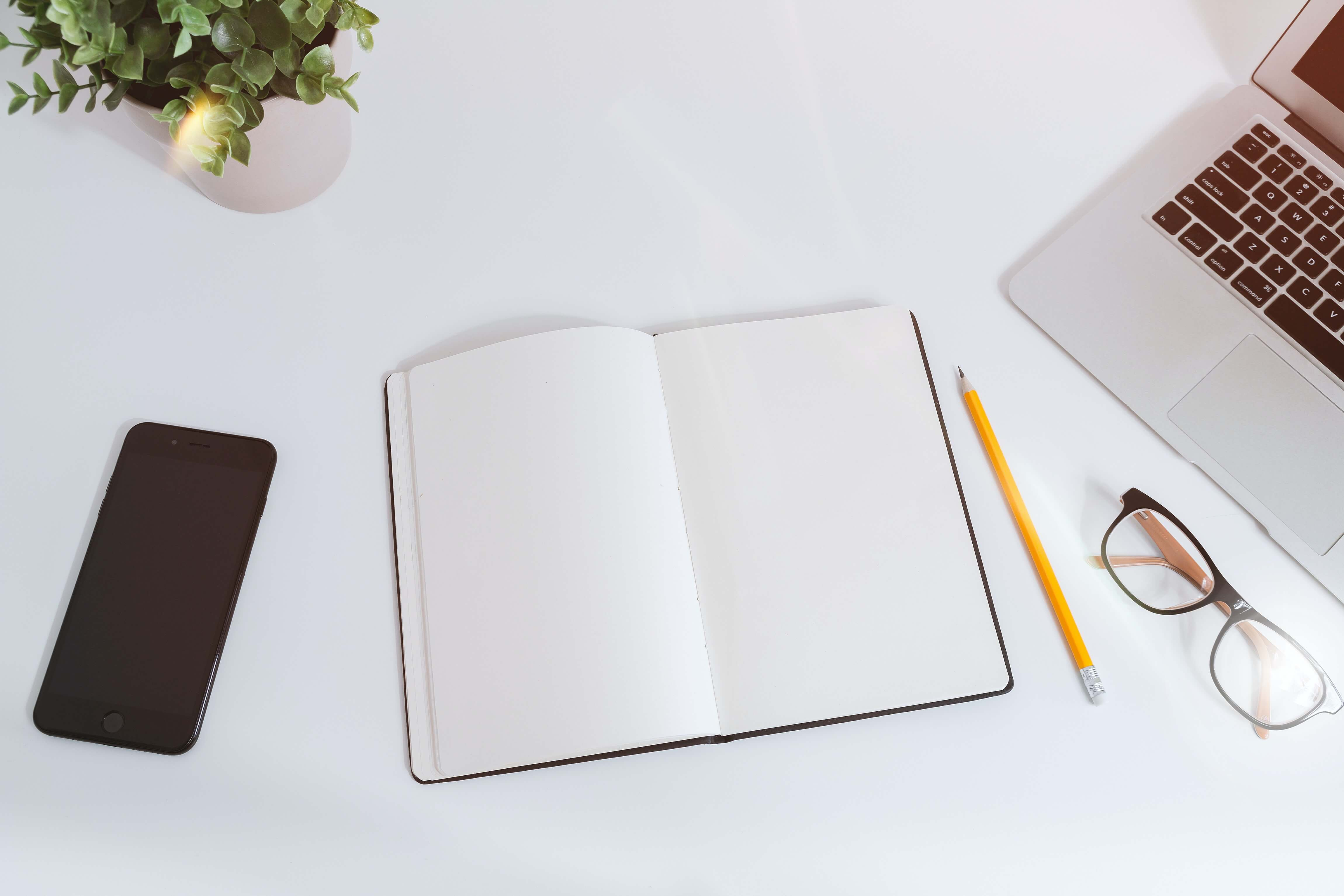 Phone-Notepad-Laptop