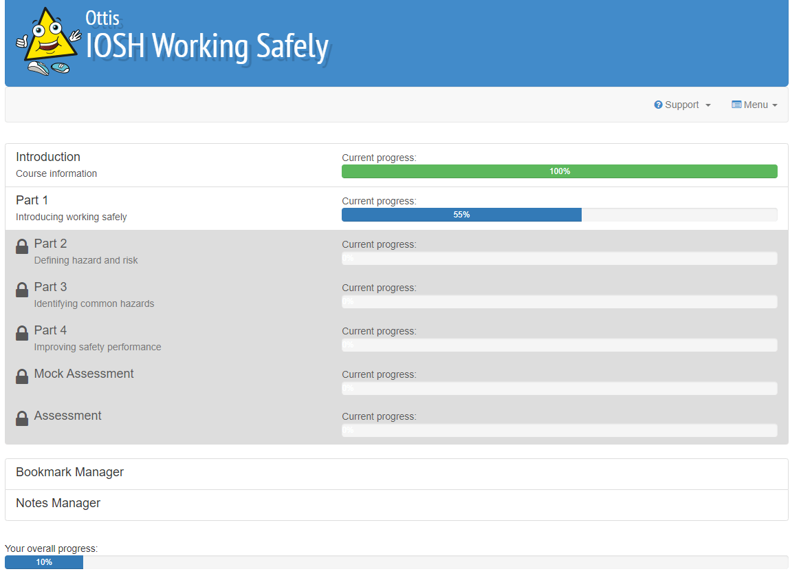 IOSH Working Safely elearning units